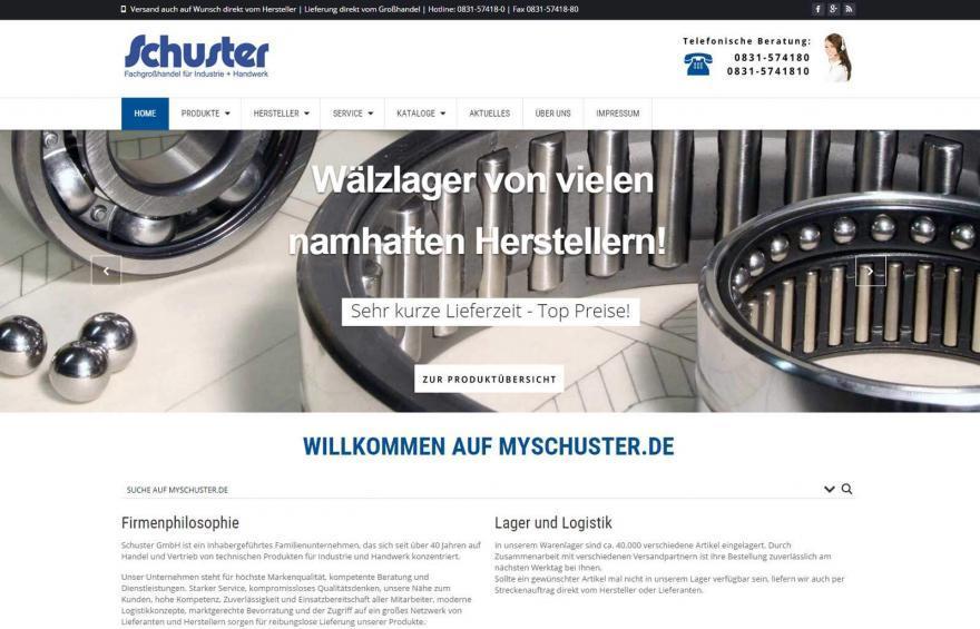 Schuster-Internetseite